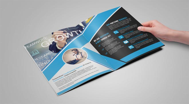a4a5 2 fold or 8 page brochure featuresfresh design layoutunique